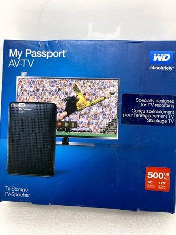 Зовнішній диск 500Gb WD My passport AV-TV новий Western Digital
