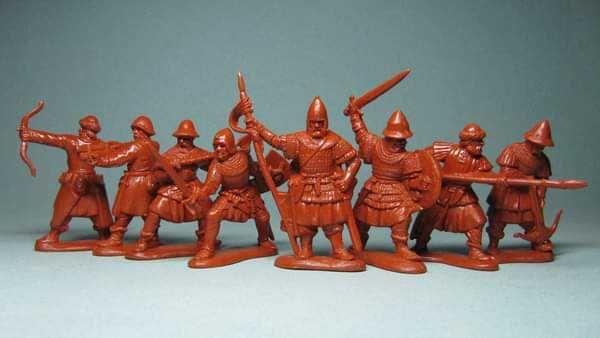 солдатики 1/32 (54мм) Середньовічні воїни 14-15 століття