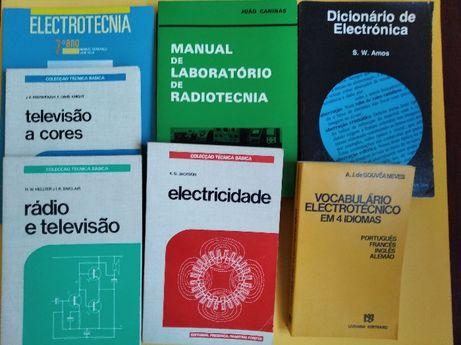 Livros sobre: Eletrónica, Televisão; Radiotecnia, Antenas