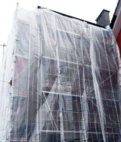 Folia Osłonowa Plandeki PLANDEKA NA RUSZTOWANIE ZBROJONA 4x10m 170gm2