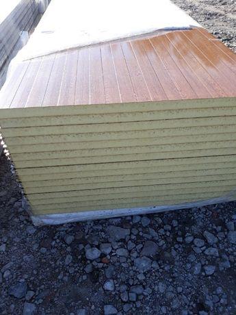 Płyta warstwowa ścienna 40 mm z PIR drewnopodobna