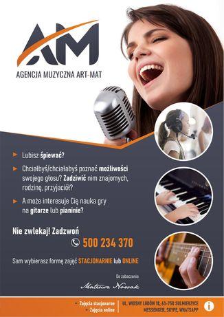 Lekcje śpiewu, gry na gitarze i pianinie