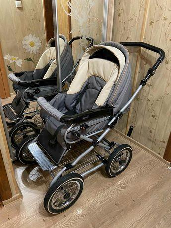 Детская коляска ROAN EMMA 2 в 1 ( люлька и прогулочный блок), серый