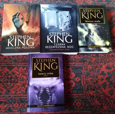 zestaw książek Stephen King mroczna połowa martwa strefa czarna