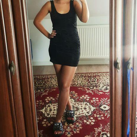 Krótka Czarna sukienka r. 36