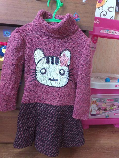 Продам очень тёплое платье детское
