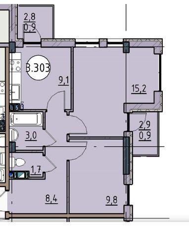 2-комнатная в новом доме бизнес-класса. Первый взнос от 13000уе.