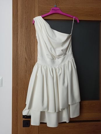 Sukienka ecru biała Sukienkowo jak nowa ślub wesele idealna 34 xs 36 s