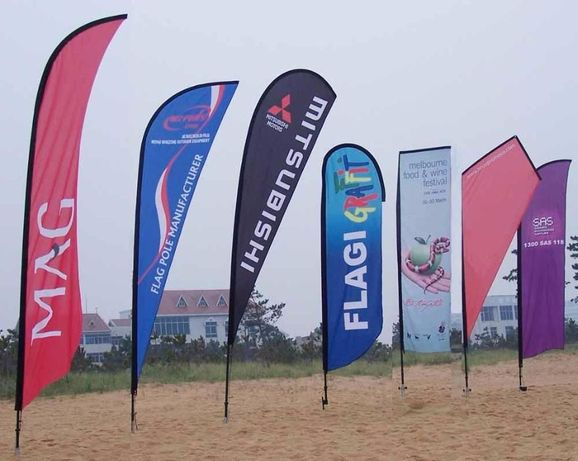 Bandeira Eventos Desportivos tipo gota 4.7 m