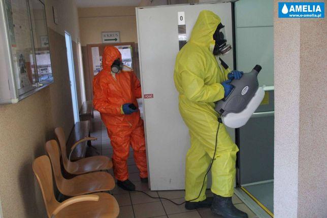 Usuwanie wirusów, bakterii Dezynfekcja antywirusowa, ozonowanie. F-VAT