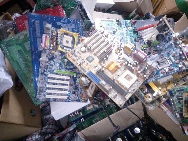 Продам нерабочие компьютерные платы,HDD