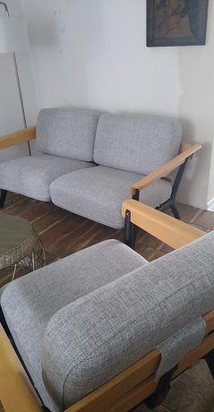 Kanapa dwu osobowa nie rozkładana + dwa fotele