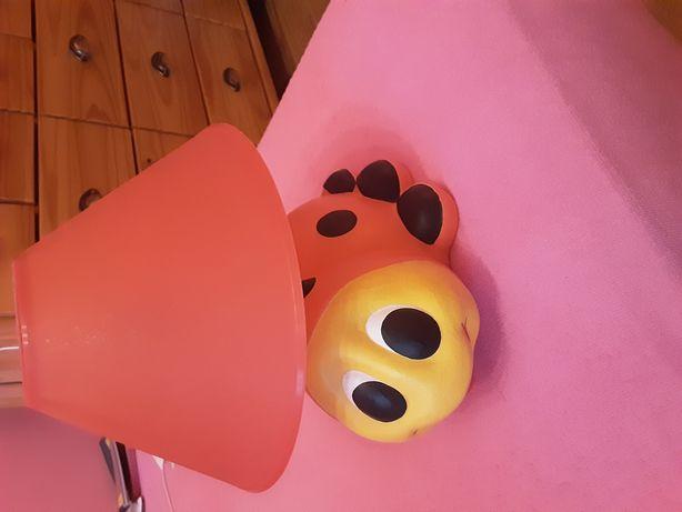 Lampka stojąca ceramiczna biedronka