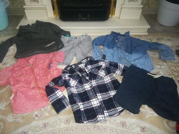 Одним лотом (пакет вещей) фирменная одежда на 2-3 года для мальчика