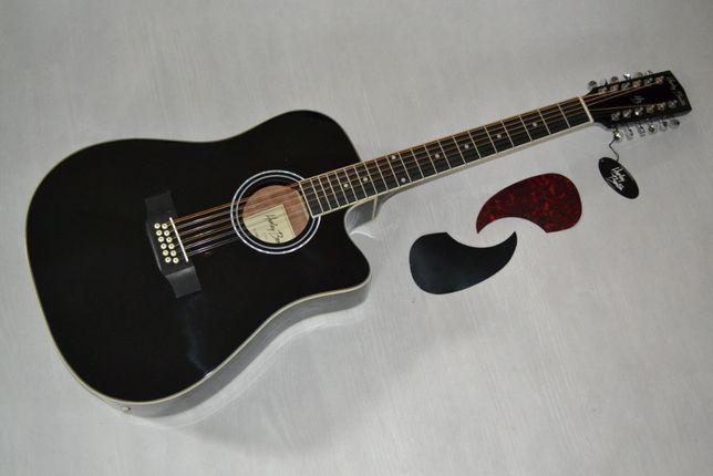 Harley Benton D-200CE gitara 12 STRUNOWA elektroakustyk- setup gratis!