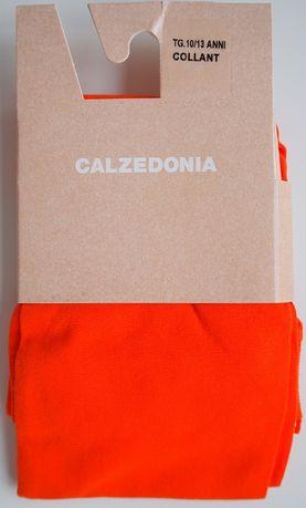 Cienkie, pomarańczowe rajstopy dziewczęce –Calzedonia– 10-13 l. – Nowe