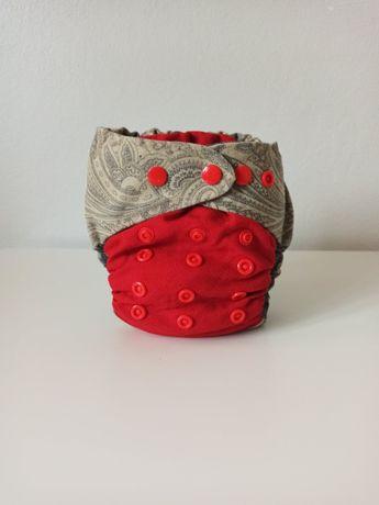 Otulacz wełniany OS-wzór PAISLEY RED-zalanolinowany