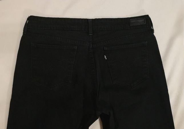 Levi's W31 L34 jeasny spodnie damskie czarne rurki slim L W32