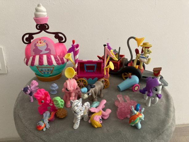 3 zestawy My little pony przyjaźń to magia + koniki Pony 8szt