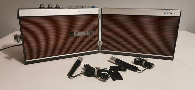 Sanyo MR408N magnetofon kasetowy z lat 70