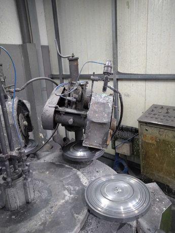 Maquina de polir 6 cabeças 3 polidores/lixadores