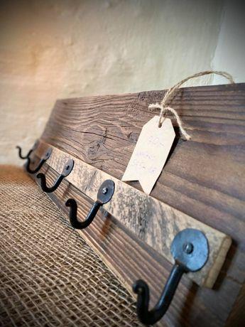 Drewniane wieszaki Drewniany wieszak Wooden hanger Loft 54,5x18 cm