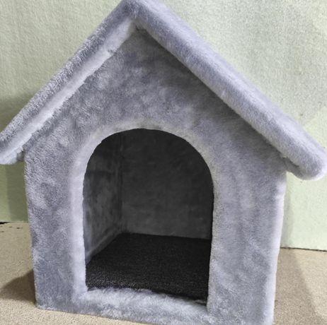 Домик будка лежанка из меха для собаки . Ручная работа. Венеция-862