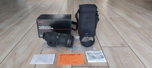 Obiektyw Sigma 70-200 F2.8 II APO EX MACRO do Nikona - stan idealny