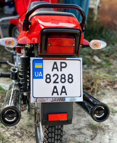 Рамка под мото номер с лазерной гравировкой Jawa / Ява