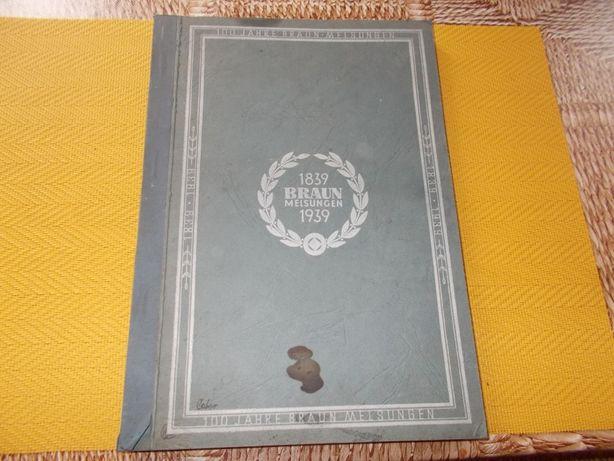 Stary Katalog Medyczny - Braun Melsungen-1939 r.