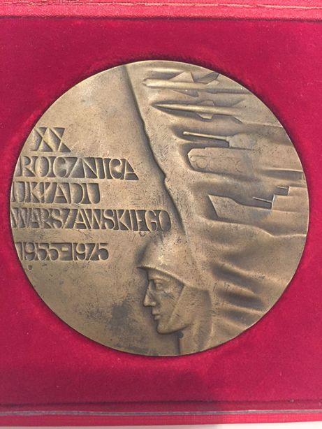 medal XX Rocznica Układu Warszawskiego 1975 Mennica