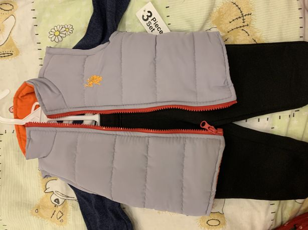 Polo набор тройка 9-12 12-18 мес жилетка кофта штаны