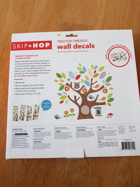 Skip hop naklejki na ścianę treetop friends 2 arkusze drzewo dzieci