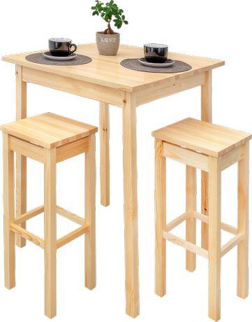 """stół """"Tomi""""+ hokery sosnowe"""