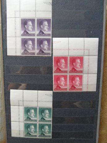 hitler GG czyste znaczki pocztowe czwórka naroznik generalna gubernia