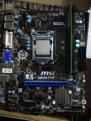 Płyta główna, procesor Intel pentium G3220, ram 4gb CL 9