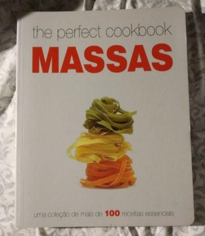 Livro receitas cozinha sobre como cozinhar MASSAS - NOVO