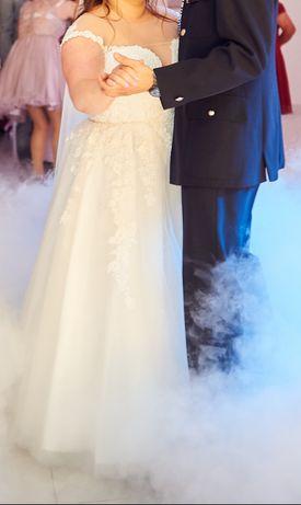 suknia ślubna r.42 Agnes 150cm + 9cm obcas