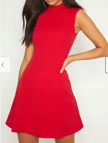 Nowa sukienka PRETTYLITTLETHING czerwona hit Asos mega 2021 lou guess