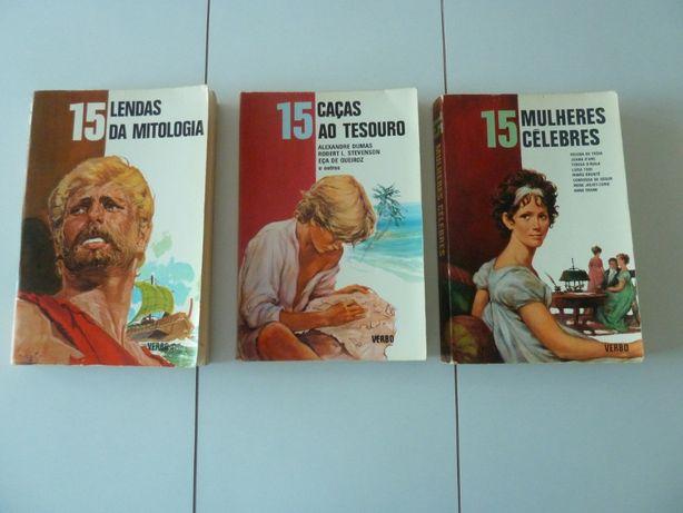 Coleção Série 15 Verbo - 3 livros juvenis vintage