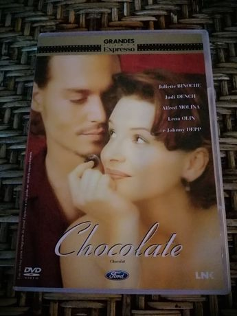 DVD Chocolate, com Johnny Depp e Juliette Binoche