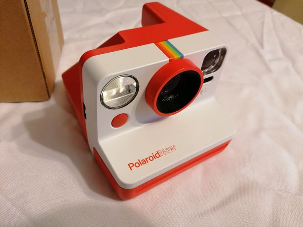 Aparat Polaroid Now Biało-Czerwony NOWY + zestaw wkładów