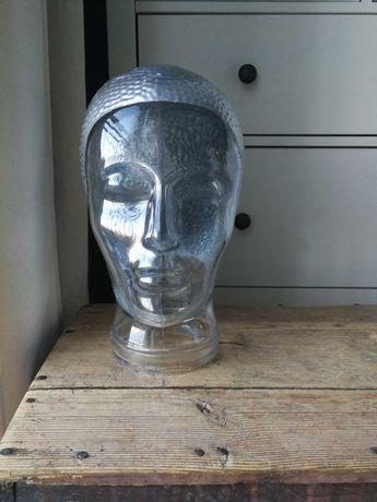 Szklana głowa ekspozytor vintage retro pop art Niemcy