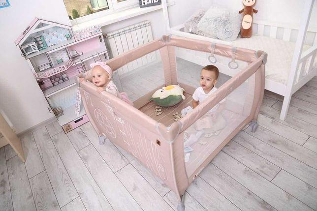 Квадратный детский манеж кровать CARRELLO Treviso каррелло