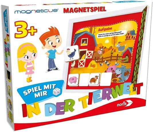 Edukacyjna gra magnetyczna 2w1 Świat zwierząt od Noris DE