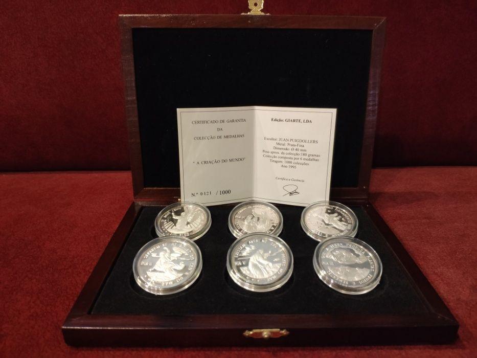 6 Medalhas Prata-Fina Giarte