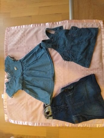 Zestaw jeansowych sukienek