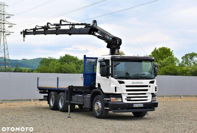 Scania P340 Skrzynia 6,50m+HIAB 144E-4HIDUO + PILOT / 6x4