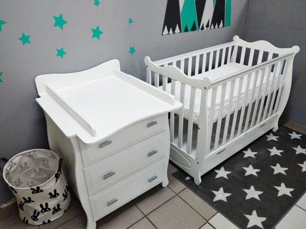RABAT -10 % meble niemowlęce łóżeczko i komoda z przewijakiem