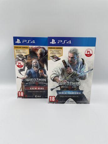PS4   Wiedźmin 3 Dziki Gon   Krew i Wino   Serca z Kamienia   Karty